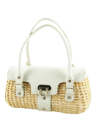 Retro Dorothy Braided Straw Handbag