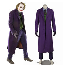 Load image into Gallery viewer, DC Batman: The Dark Knight Joker Cosplay Costume Trench Coat Vest Shirt Pants Tie Gloves without Suit for Halloween Carnival