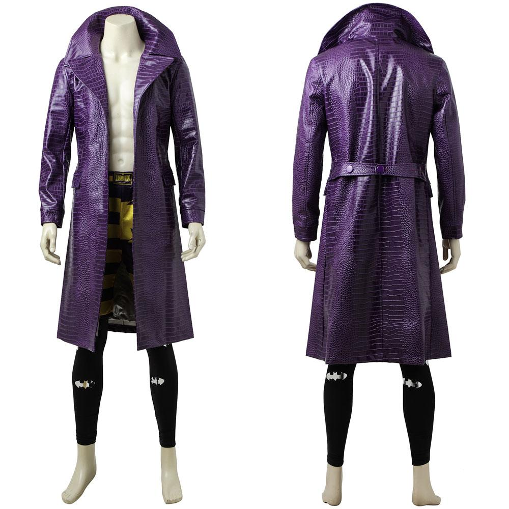 DC Comics Suicide Squad Joker Cosplay Costume Purple Coat Version B for Halloween Carnival