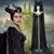 Disney Maleficent 2 Mistress of Evil Black Dress Robe Cosplay Costume for Halloween Carnival
