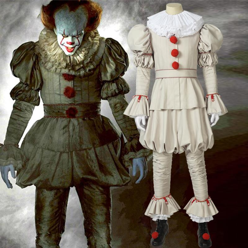 Horror Movie It Chapter Two Stephen King's It Pennywise The Dancing Clown Cosplay Costume for Carnival Halloween