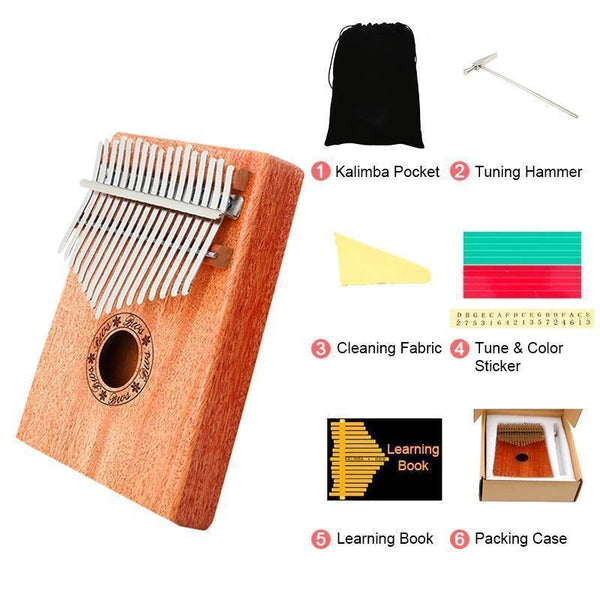 Absolutely wonderful instrument--Kalimba 17 Key Thumb Piano Wood Mahogany Calimba Body