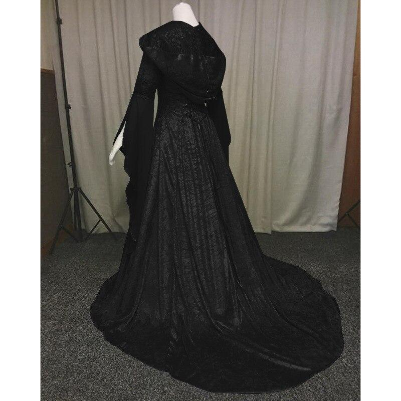 Renaissance Medieval Costume Princess Boho Victorian Dress Women Vintage Hooded Dress Gothic Dress Halloween Costume