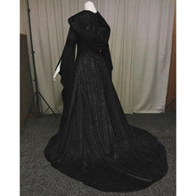 Load image into Gallery viewer, Renaissance Medieval Costume Princess Boho Victorian Dress Women Vintage Hooded Dress Gothic Dress Halloween Costume