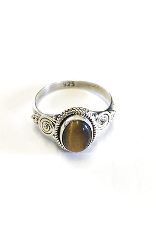 Debbie Sterling Silver Onyx Ring