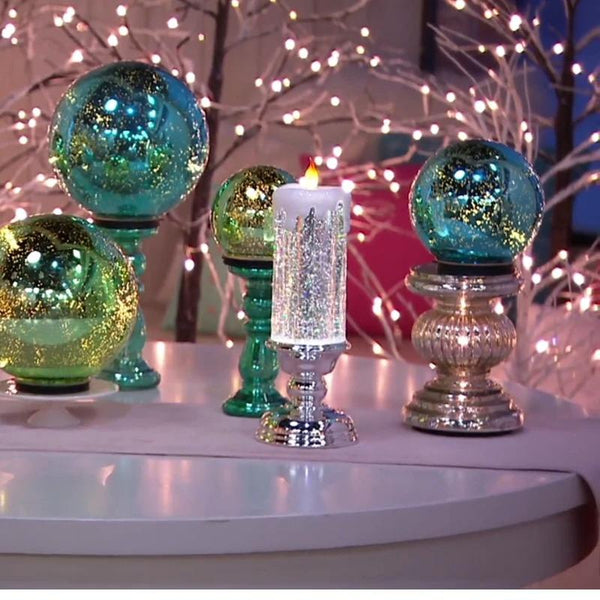 50% OFF Today-Colour Electronic LED Candle With Glitter(Best Christmas Candle Lights)
