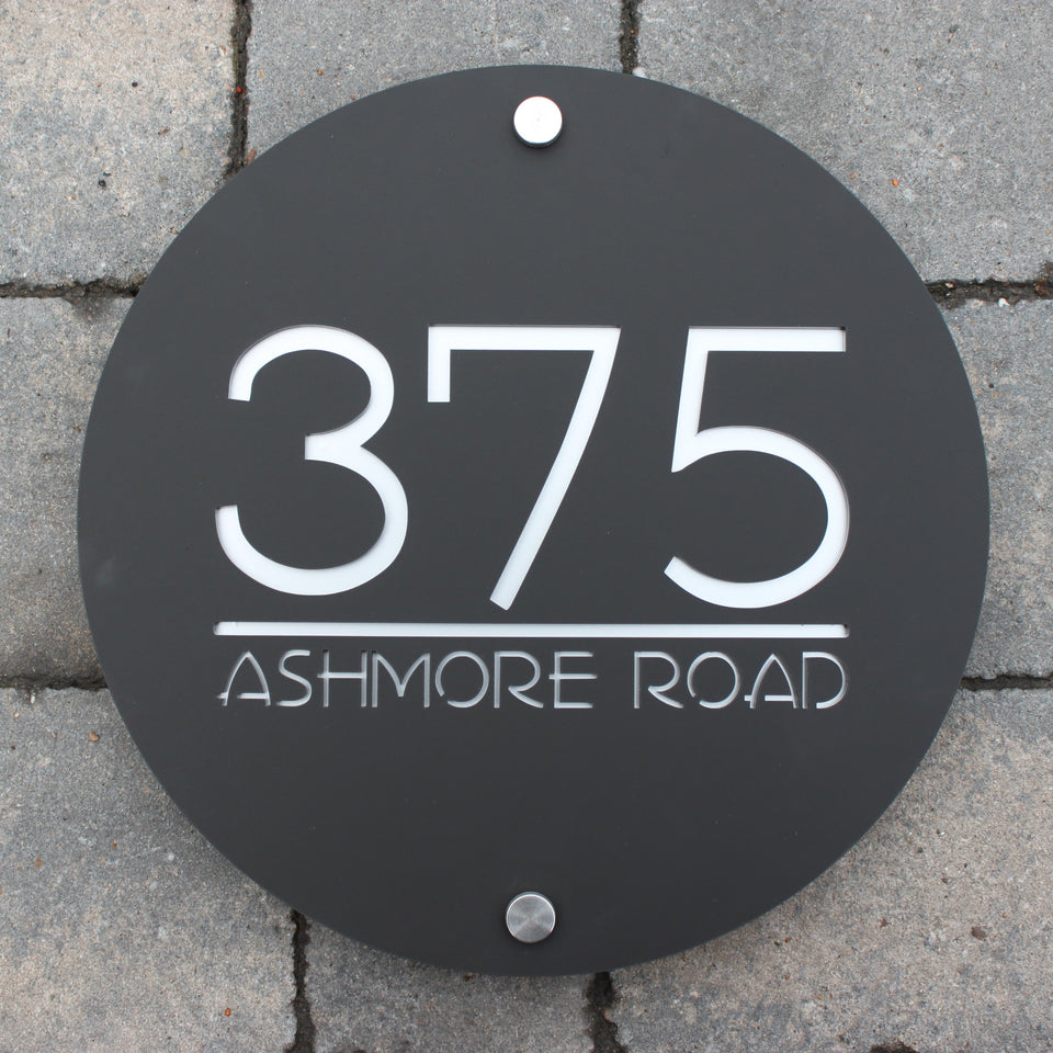 Unique Round House Sign which can include street or house names