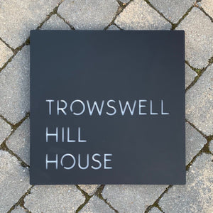A unique range of square house signs which are designed to suit your own unique address.  Art deco, mid century and modern fonts to choose from.