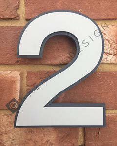 Unique Outlined House Digit Number Sign - Kreativ Design Ltd