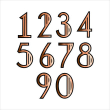 Load image into Gallery viewer, Art Deco Modern Style House Number Sign - Kreativ Design Ltd
