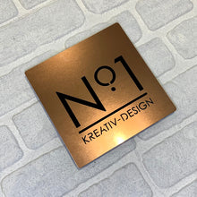 Load image into Gallery viewer, Illuminated Modern House Number Sign with Low voltage LED 20 x 20cm Address Plaque - Kreativ Design