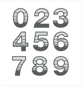 Unique Gradient Stripe House Number Digit Sign - Kreativ Design Ltd