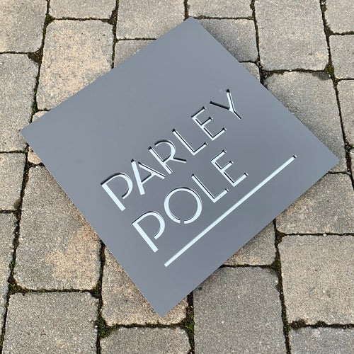 Modern Square House Name or Address Sign 400mm x 400 mm - KREATIV DESIGN