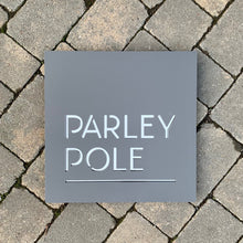 Load image into Gallery viewer, Modern Square House Name or Address Sign 400mm x 400 mm - KREATIV DESIGN