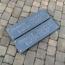 Charger l'image dans la galerie, Modern Long Large Rectangle House Name / Address Sign 80 cm x 20 cm - Kreativ Design Ltd