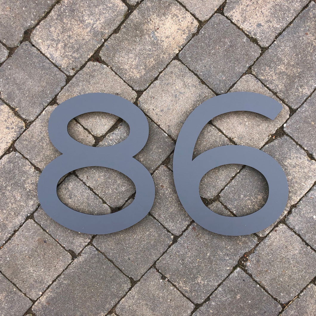 Individual House Digit Number Sign Large 30 cm tall - Kreativ Design Ltd