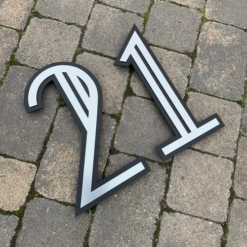 Art Deco Modern Style House Number Sign - Kreativ Design Ltd