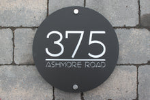 Load image into Gallery viewer, Modern Round House Number Address Sign 30 cm Diameter - KREATIV DESIGN