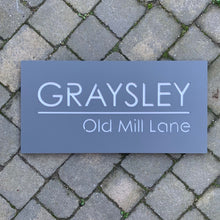 Load image into Gallery viewer, Modern Rectangle House Name / Address Sign 60 cm x 30 cm - Kreativ Design Ltd