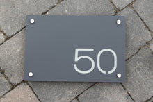 Afbeelding in Gallery-weergave laden, Modern Contemporary Rectangle House Address Sign 30 cm x 20 cm - Kreativ Design Ltd