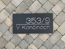 Laden Sie das Bild in den Galerie-Viewer, Modern Rectangle House Name / Address Sign 60 cm x 30 cm - KREATIV DESIGN