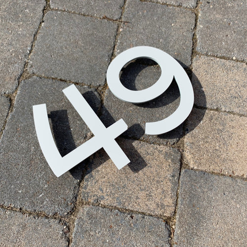 Individual House Digit Door Number Sign 15 cm tall - KREATIV DESIGN