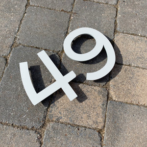 Individual House Digit Door Number Sign 15 cm tall - Kreativ Design Ltd