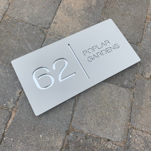 Modern Landscape Rectangle House Number Sign 30 cm x 15 cm - KREATIV DESIGN