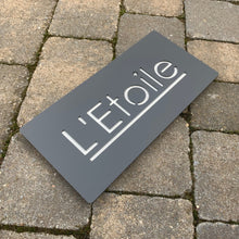Lataa kuva Galleria-katseluun, Modern Rectangle House Number and Address Sign 40 cm x 20 cm - Kreativ Design Ltd