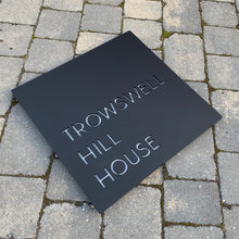 Load image into Gallery viewer, Modern Square House Name or Address Sign 40 cm x 40 cm - KREATIV DESIGN