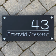 Load image into Gallery viewer, Extra Large Illuminated House Sign Low voltage LED 56 cm x 28 cm - KREATIV DESIGN