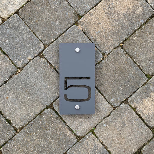 Individual Rectangular Number Sign 10 cm x 20 cm Portrait Orientation - KREATIV DESIGN