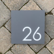 Load image into Gallery viewer, Modern Square House Number / Address Sign 20 cm x 20 cm - KREATIV DESIGN
