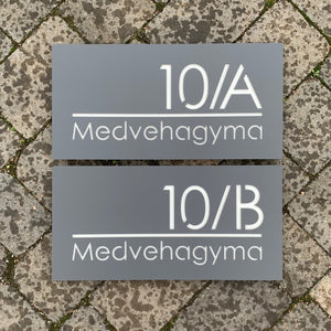 Modern Rectangle House Number and Address Sign 40 cm x 20 cm - Kreativ Design Ltd
