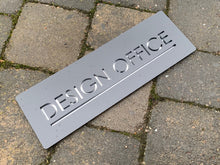 Lataa kuva Galleria-katseluun, Contemporary Rectangular Modern Name Sign 30 cm x 10 cm - Kreativ Design Ltd