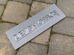 Contemporary Rectangular Modern Name Sign 30 cm x 10 cm - Kreativ Design Ltd