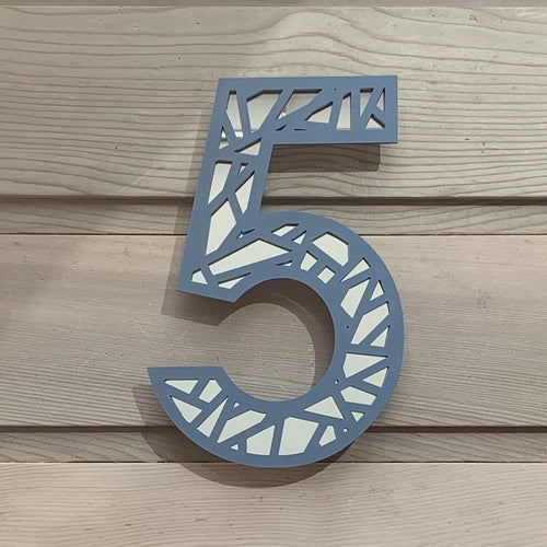 New Design Geometric House Number Digit Sign - Kreativ Design Ltd