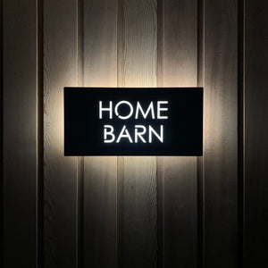 Large Illuminated LED Modern House Address Sign | Bespoke Address Plaque 40 x 20 cm - Kreativ Design Ltd