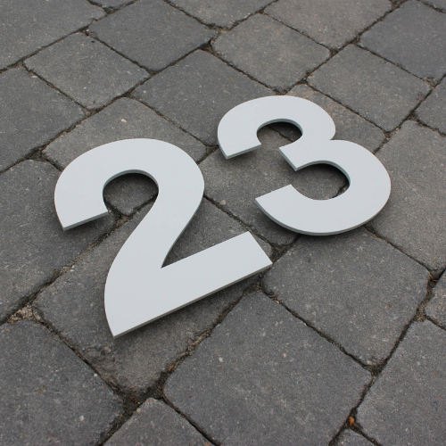 Individual House Number (Digit) Sign 20 cm tall - Kreativ Design Ltd