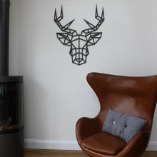 Load image into Gallery viewer, Geometric Stag Head Wall Art, Unique Contemporary Design - KREATIV DESIGN