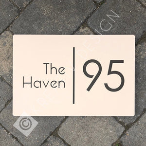 Modern Contemporary Rectangle House Address Sign 30 cm x 20 cm - Kreativ Design Ltd