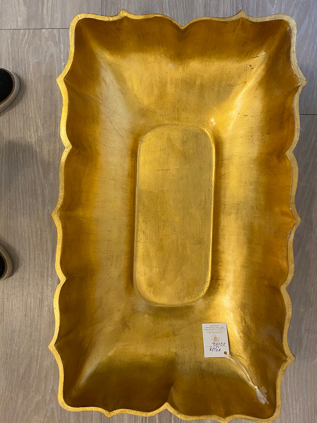 Gold Leaf Rectangular Bowl