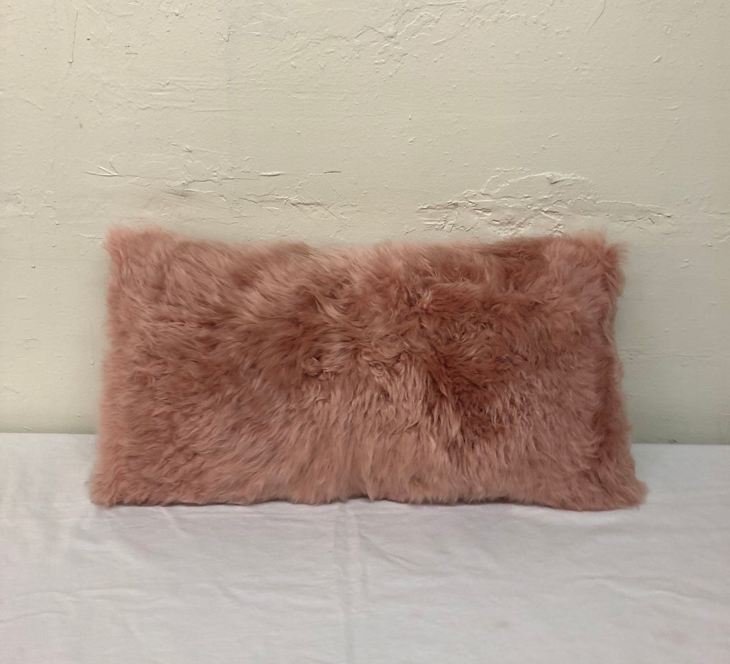 Pink Sheep Skin Pillow