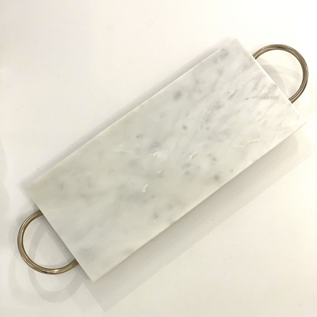 Rectangle Ivory Marble Tray