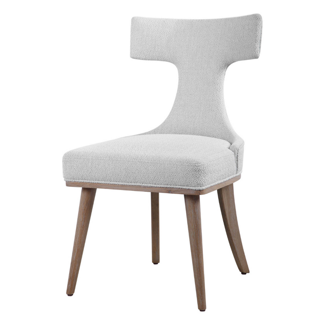 Klismos Off-white Accent Chair