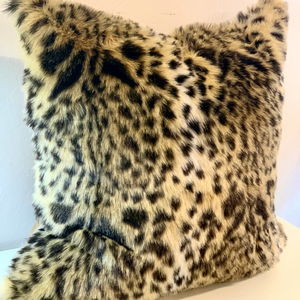 Animal Print Faux Fur Pillow