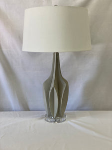 Grey multi-faceted Table Lamp