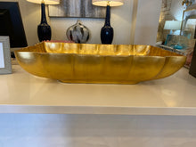 Load image into Gallery viewer, Gold Leaf Rectangular Bowl