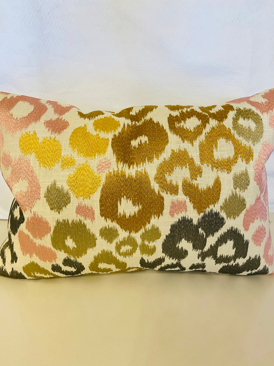 Multi-colored Embroidery Pillow