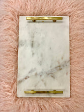 Load image into Gallery viewer, Marble Tray with Brass (Gold) Handles